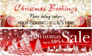 christmas banner templates and signs