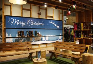 Christmas Foamex Shop Display Sign Naylors