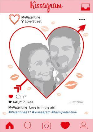 valentines day selfie frame printing