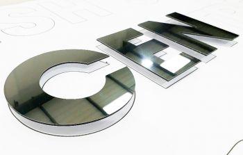 Mirrored Aluminium Flat Cut Letter Signage