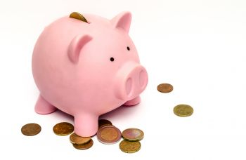 Pig with coins