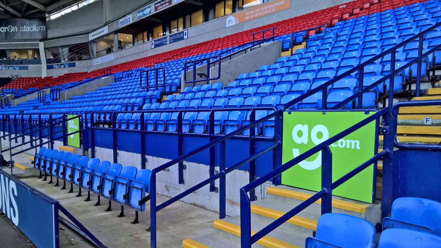 Seamless Vinyl Photography Backdrop Football Stadium Match: Urgent Vinyl Graphics For Bolton Wanderers Football