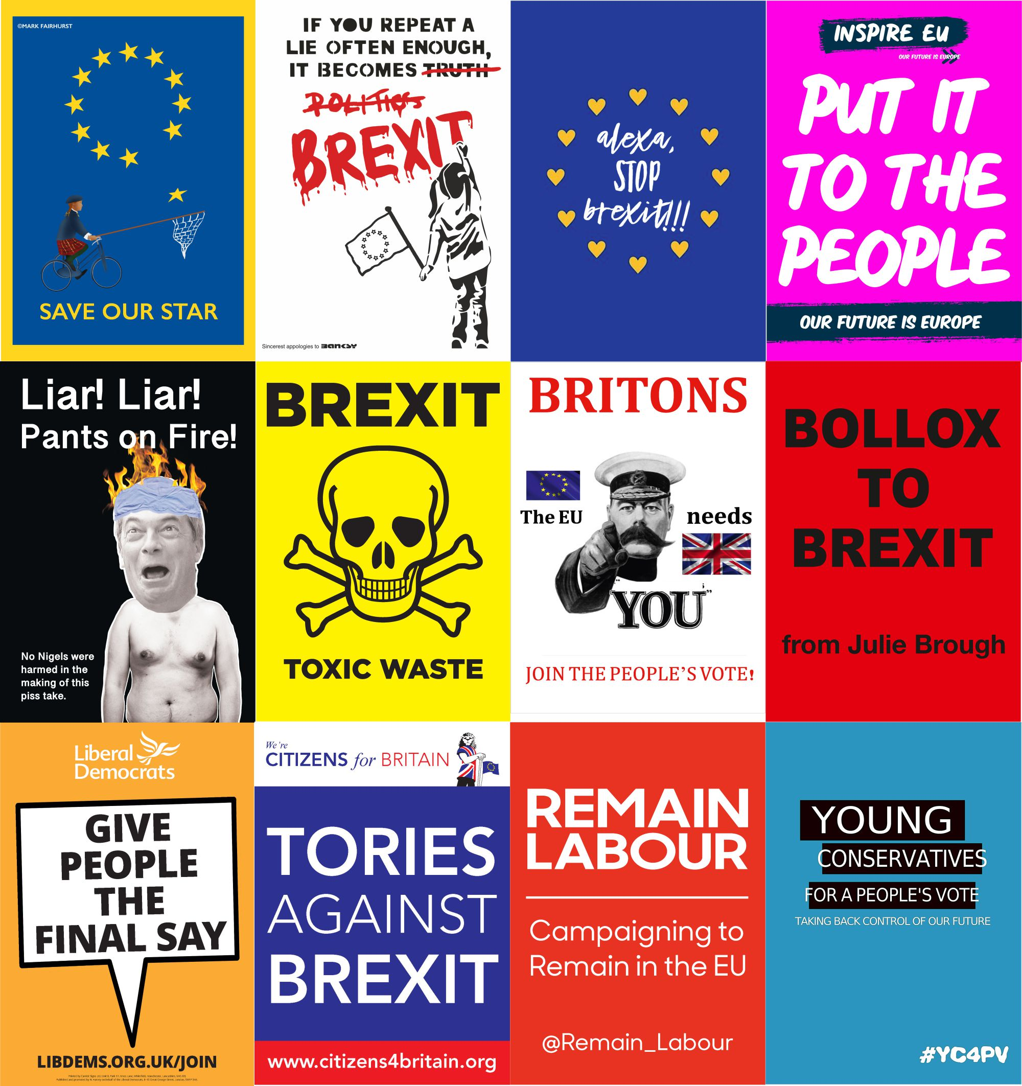 The Best Placards printed for Peoples Vote March 23 03 2019